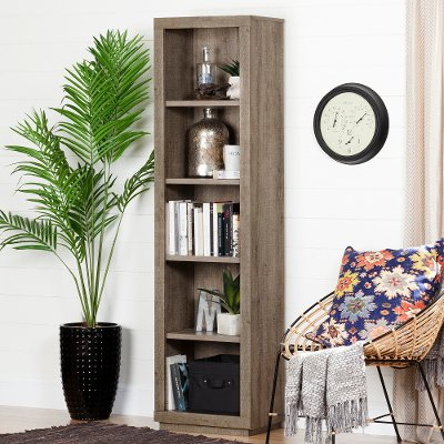 kathy home bookcases product detail loft roland oak shelf rolling weathered industrial kuo bookcase