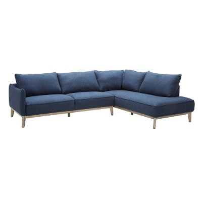 blue modern 2piece sectional flanigan - 2 Piece Sectional