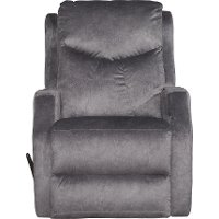 Slate Gray Manual Rocker Recliner - Tip Top