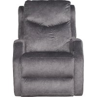 Slate Gray Power Rocker Recliner - Tip Top