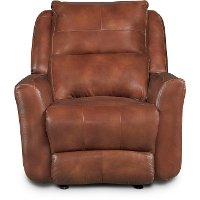 Alfresco Rustico Brown Leather-Match Power Recliner - Producer