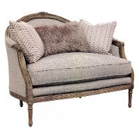 Traditional Persian Taupe Settee - Claudine