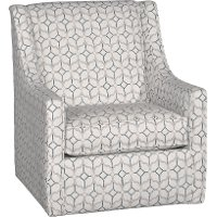 1580SW/ROCKWY/NAVY White and Navy Blue Swivel Chair - Rockaway