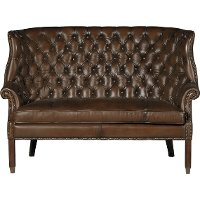 Barcelona Chestnut Brown Leather Settee - Bates