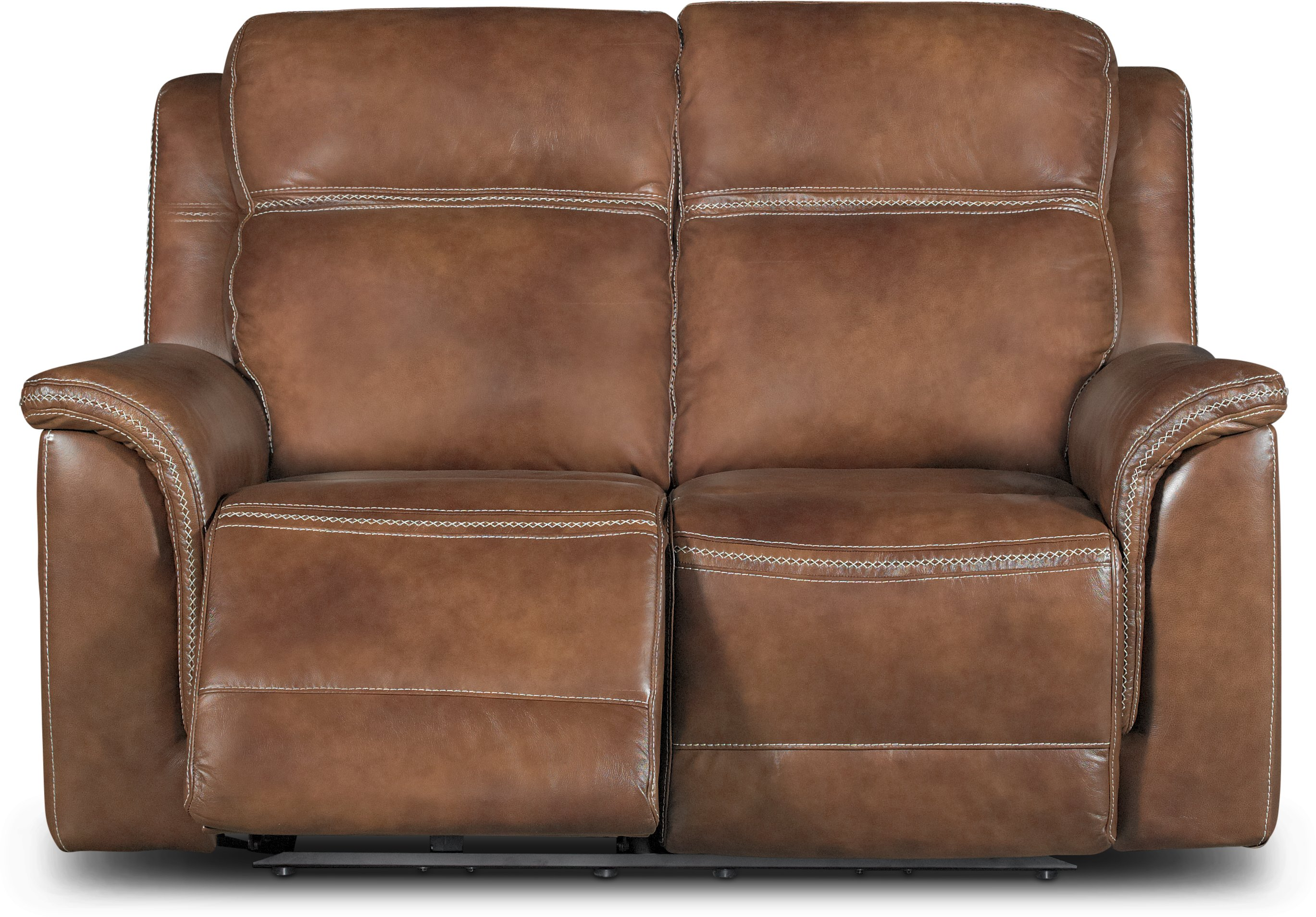 Pacific Oak Brown Leather Match Power Reclining Sofa Loveseat  ~ All Leather Sofa And Loveseat