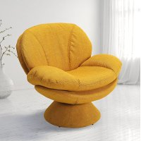 Rio Straw Yellow Pub Accent Chair - Comfort Chair