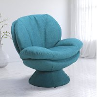 Rio Turquoise Blue Pub Accent Chair - Comfort Chair