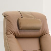 Sand Tan Top Grain Leather Cervical Pillow - Oslo