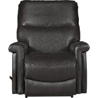 10-729/LB14787 Chocolate Brown Leather-Match Manual Rocker Recliner - Baylor