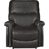 1HR-729/LB147878 Chocolate Brown Leather-Match Power Rocker Recliner - Baylor