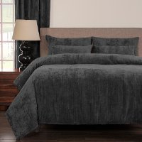 Draper Pewter Queen Bedding Collection