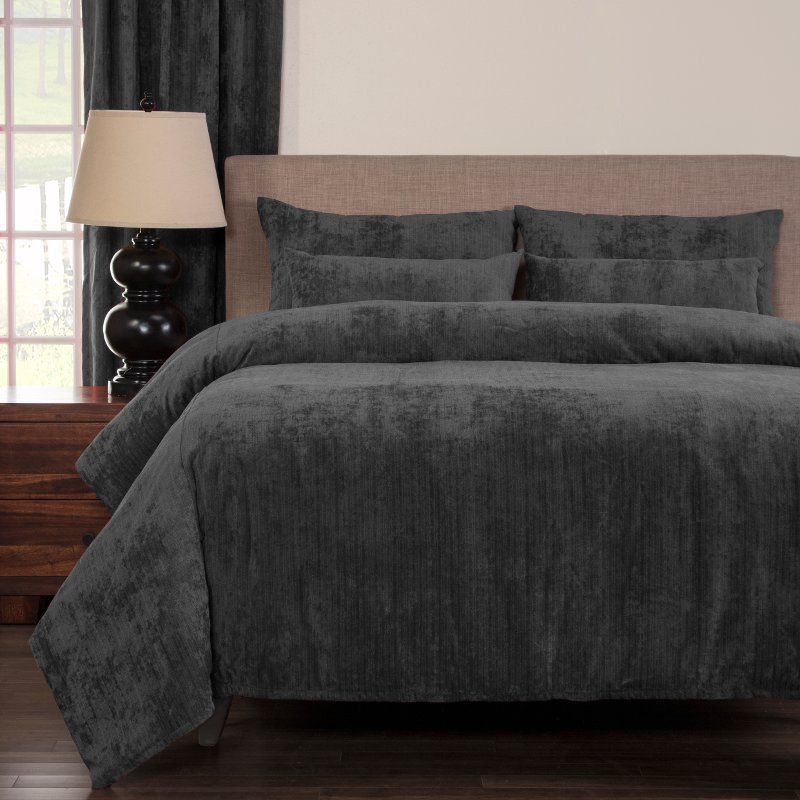 Draper Pewter King Bedding Collection