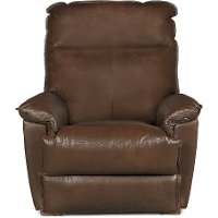 Sophia Chocolate Brown Leather-Match Manual Rocker Recliner - Jay