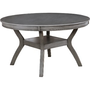 Gray Round Dining Table   Warwick