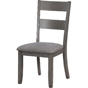 Clearance Gray Upholstered Dining Chair