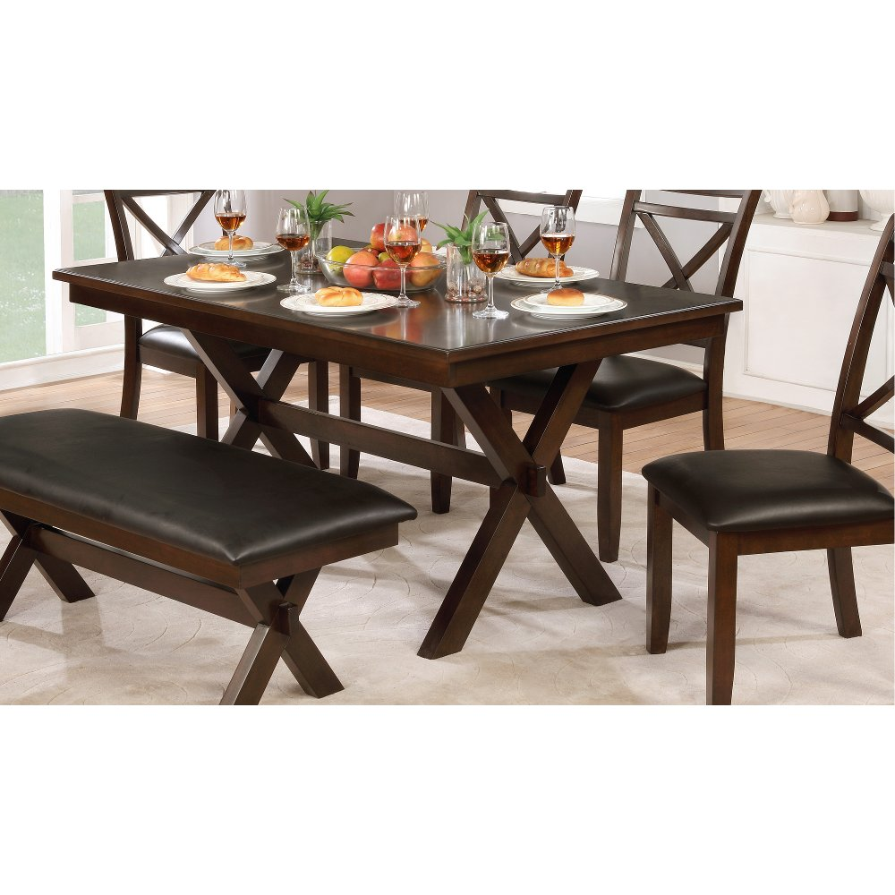 ... Clearance Dark Cherry Traditional Dining Table   Westerly