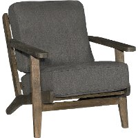 Contemporary Charcoal Gray Accent Chair - Metro