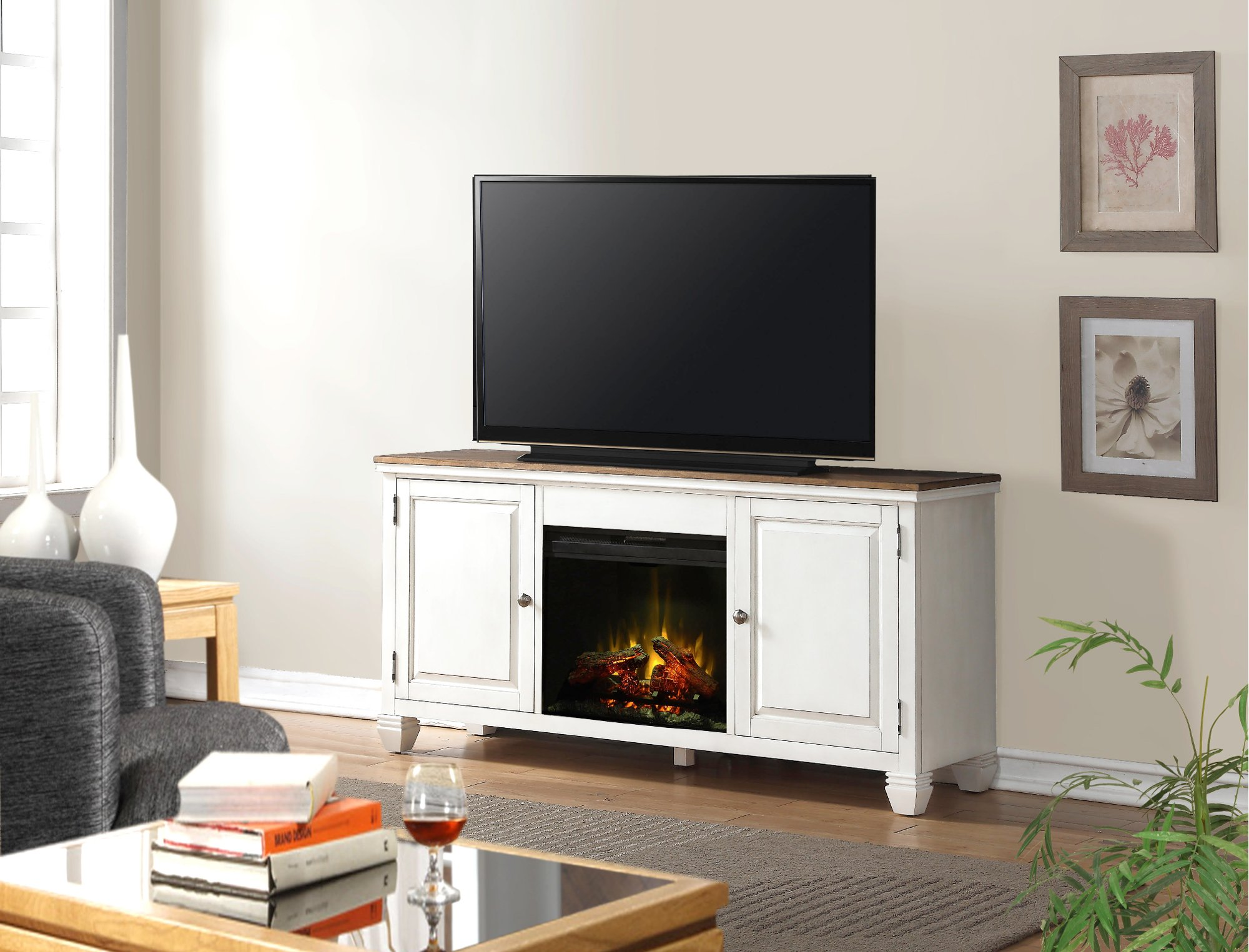 fireplace stand corner center entertainment white tv electric walmart lowes small heater canada