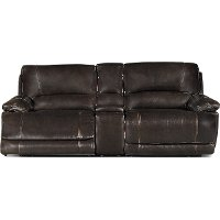 Brown 3 Piece Manual Console Reclining Loveseat - Brant