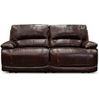 Burgundy 2 Piece Power Reclining Loveseat - Brant