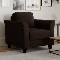 Classic Contemporary Coffee Brown Chair - Westley