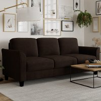 Classic Contemporary Coffee Brown Sofa - Westley