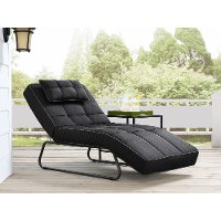 Dark Gray Outdoor Patio Chaise Lounge - Baylands