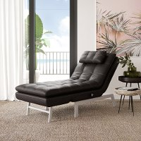Dark Brown Convertible Chaise - Aria