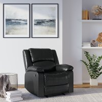Black Faux Leather Recliner Chair - Preston
