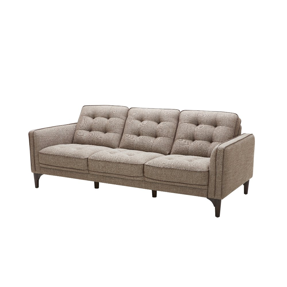brown tweed midcentury modern sofa chantham