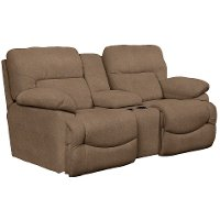 49P-711D143068 Chocolate Brown Full Power with USB Reclining Loveseat - Asher