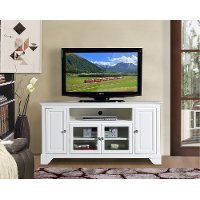 60 Inch White TV Stand - Irvington