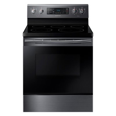 NE59M4320SG Samsung Electric Range with dual power elements - 5.9 cu. ft. Black Stainless Steel