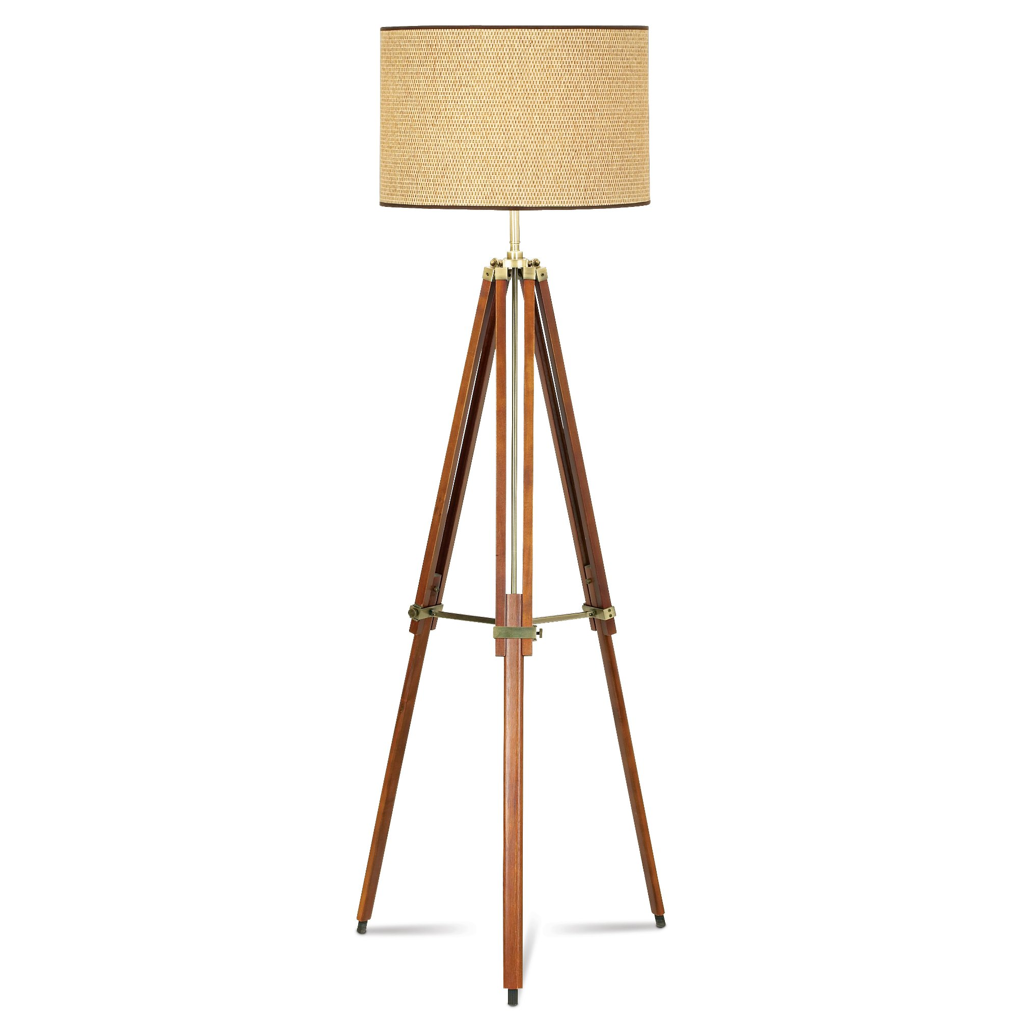 Walnut Tripod Floor Lamp