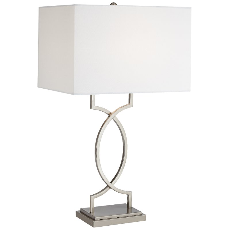 Brushed Nickel And Steel Modern Elegant Table Lamp Rc Willey Furniture