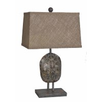 Faux Turtle Shell Poly Resin Table Lamp