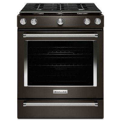 KSGG700EBS KitchenAid Slide In Gas Range - 5.8 cu. ft. Black Stainless Steel