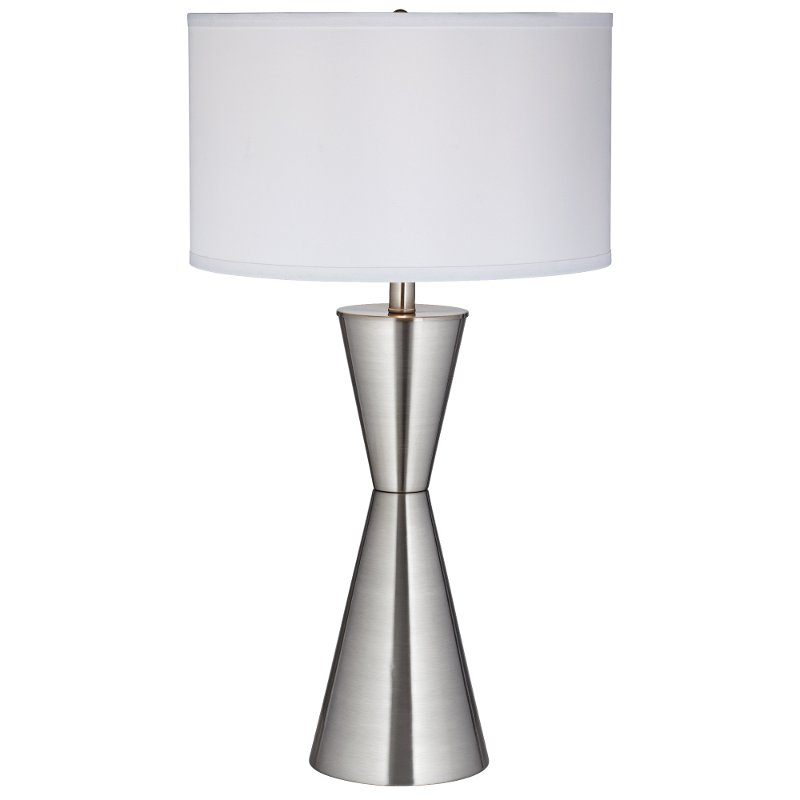 Brushed Nickel and Steel Table Lamp