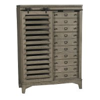 Rustic Contemporary Old Gray Door Chest - Bohemian