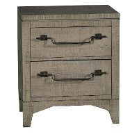 Old Gray Rustic Contemporary Nightstand - Bohemian