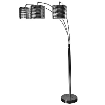 Brushed Steel 3-Arm Arc Floor Lamp | RC Willey Furniture Store
