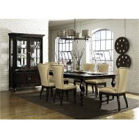 Dark Oak Traditional 5 Piece Dining Set - Tessy