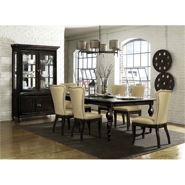 Exceptionnel ... Dark Oak Traditional 5 Piece Dining Set   Tessy