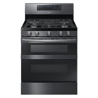 NX58M6850SG Samsung 5.8 cu. ft. Freestanding Gas Range with 16K and 15K BTU Power Burners - Black Stainless Steel