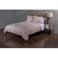 Carly Petal Pink Cotton King Quilt Bedding Collection