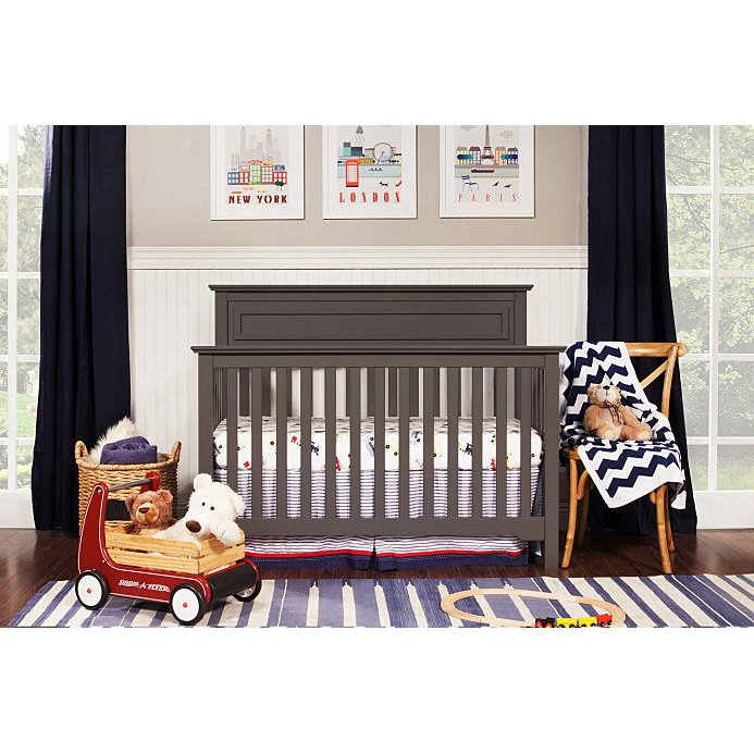 Slate Gray Clic 4 In 1 Convertible Crib Autumn