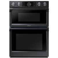 NQ70M7770DG Samsung 30 Inch Convection Flex Duo Combo Wall Oven with Built-In Microwave - Matte Black Stainless Steel