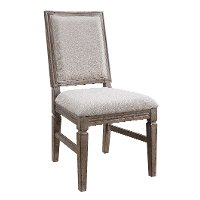 Weathered Pine Square Back Upholstered Dining Chair - Interlude II