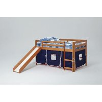 Twin Honey and Blue Tent Bed with Slide