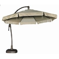 Treasure Garden Outdoor Patio Cantilever Umbrella and Base